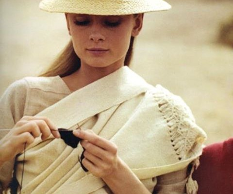 audrey knitting