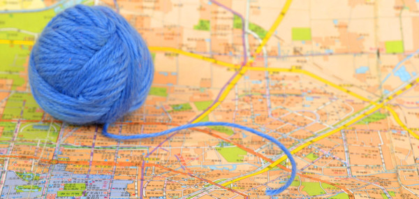 Ball wool on map